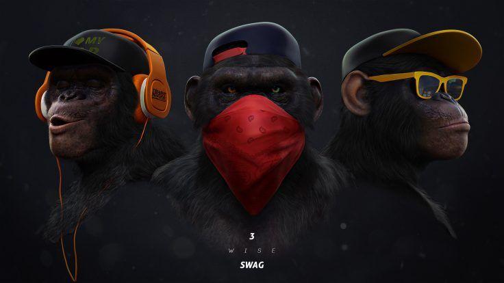 Swag By Juliano Araujo Singe Monkey Ape Gorille