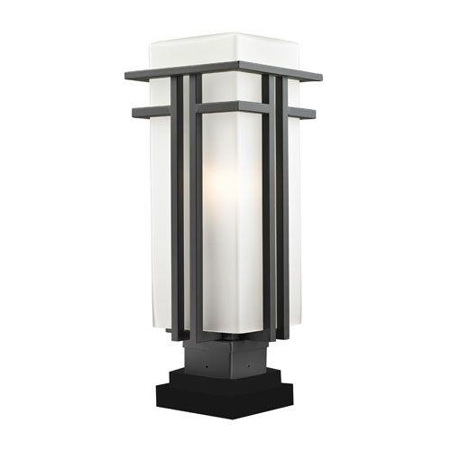 Best 25 outdoor post lights ideas on pinterest craftsman deck z lite abbey outdoor rubbed bronze outdoor pier mount light aloadofball Choice Image