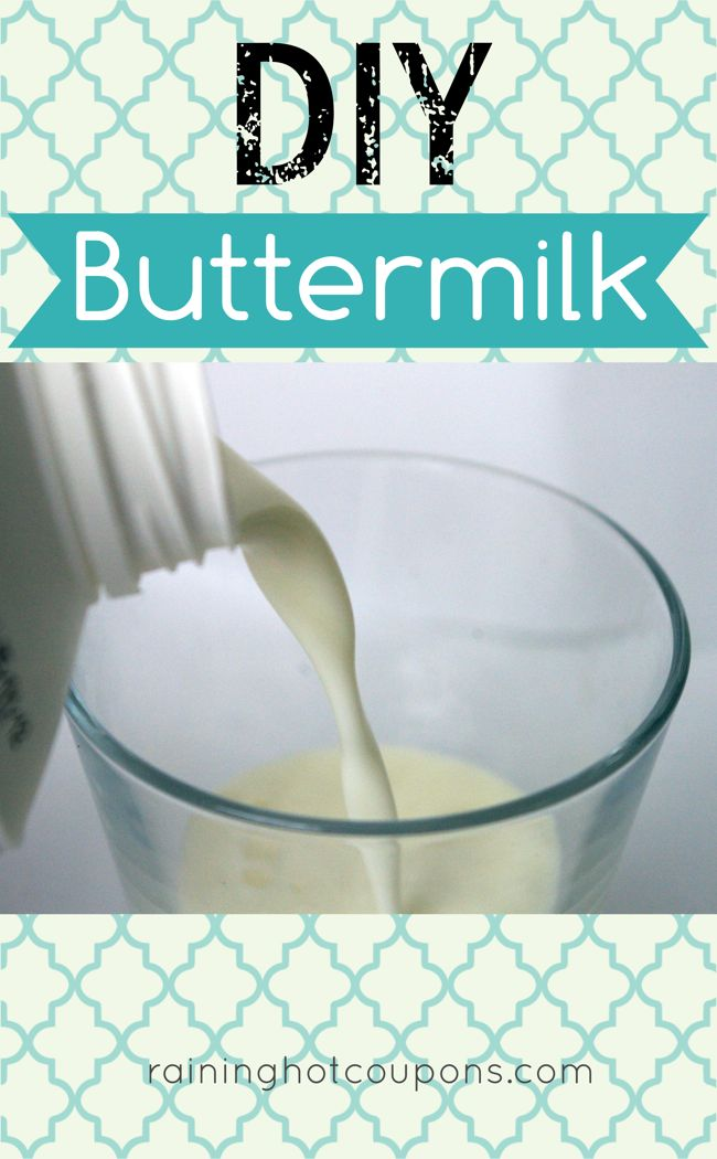 DIY Buttermilk- Wish I knew this yesterday before I ran to the store for buttermilk so that I could make homemade Ricotta Cheese.