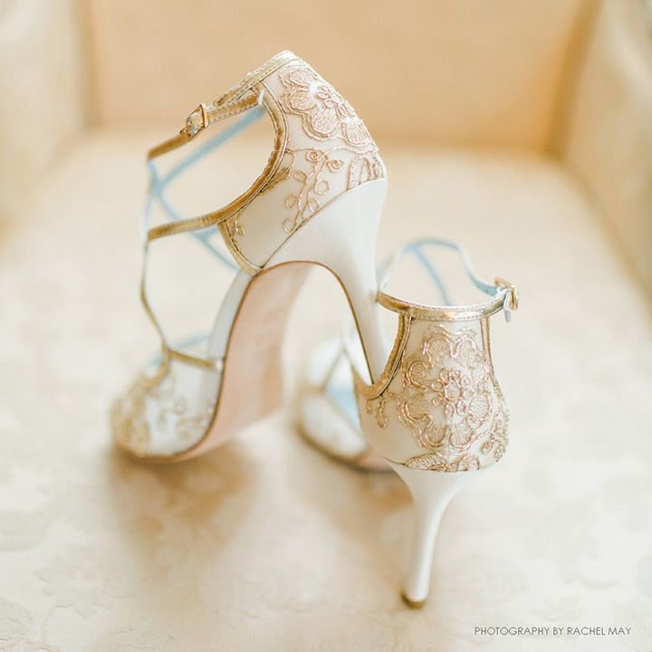 Gorgeous Gold Wedding Shoes from Bella Belle - ~  we ❤ this! moncheribridals.com