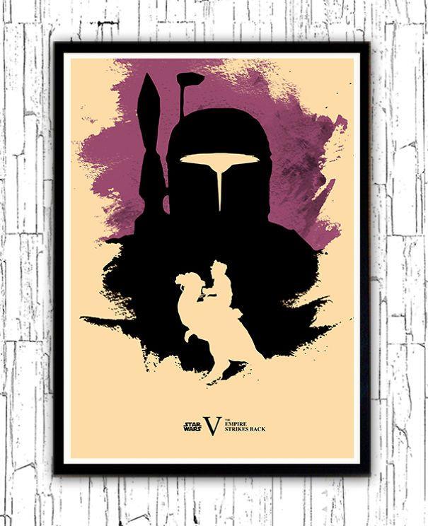O artista Alp Celik criou pôsters minimalistas de cada um dos maravilhosos filmes de Star Wars *-*