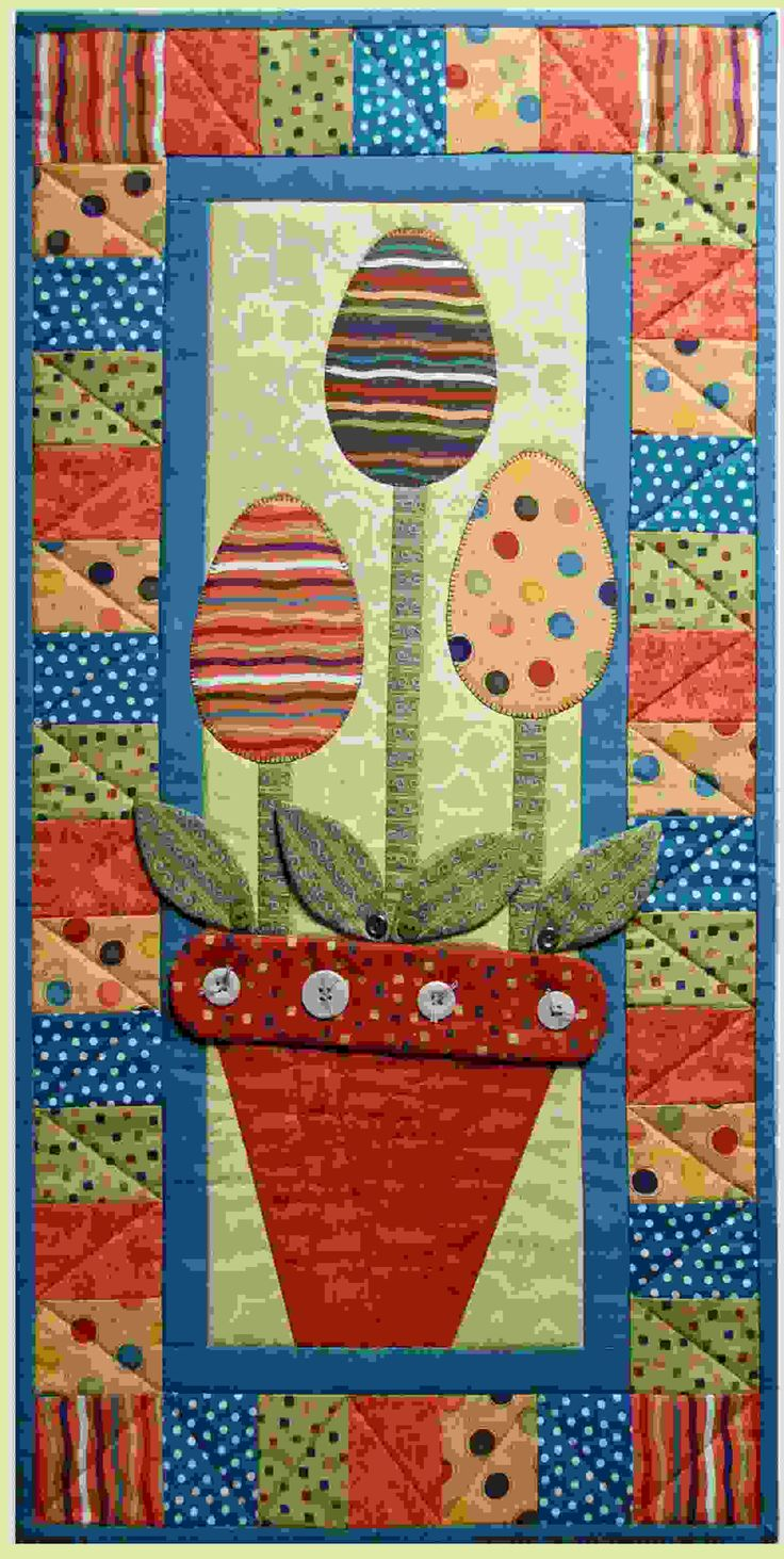 ~ Egg Plant Wall Quilt