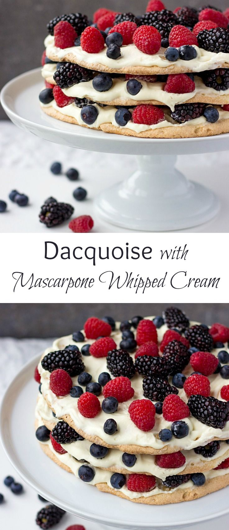 Dacquoise cake - is a super delicate almond meringue cake that is lighter than air. Learn how to make this classic French cake in a step-by-step tutorial.