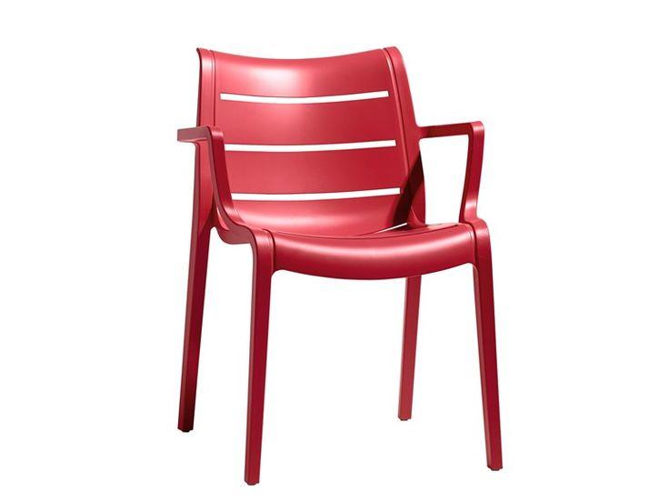 Technopolymer chair with armrests SUNSET by SCAB DESIGN | design Luisa Battaglia