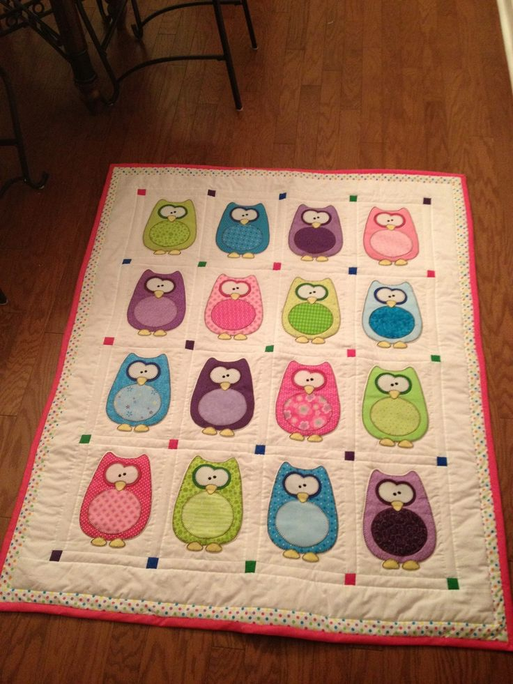 Owl baby quilt Quilting Pinterest Owl baby quilts, Owl and Sew baby blankets