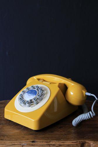 Mustard Yellow 746 Telephone