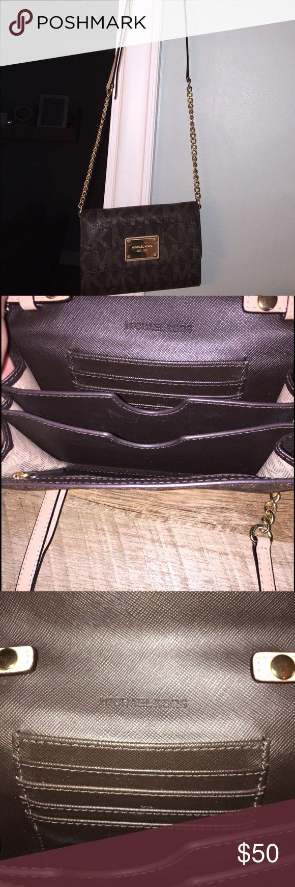 Michael Kors crossbody wallet Brand new without tags Michael Kors MK logo crossbody wallet size handbag Michael Kors Bags Crossbody Bags