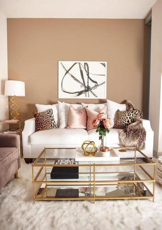 Twenty Eye Popping Creative Concepts For Livingroomfloor In 2020 Pink Living Room Living Room Decor Modern Gold Living Room