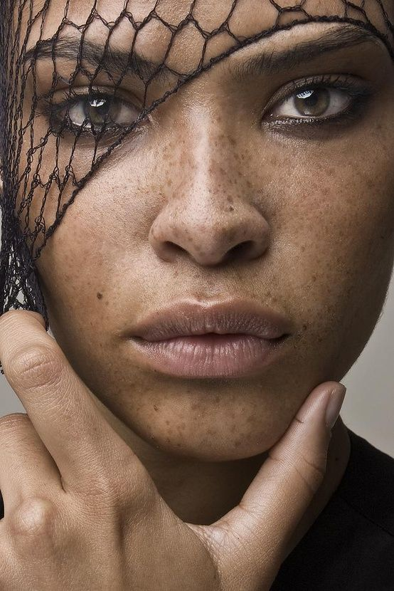 Ashlee Desire, beautiful freckled female face model portrait. Photography by Tarrice Love. #headshot