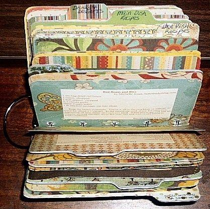 scrapbook recipe cards by sally