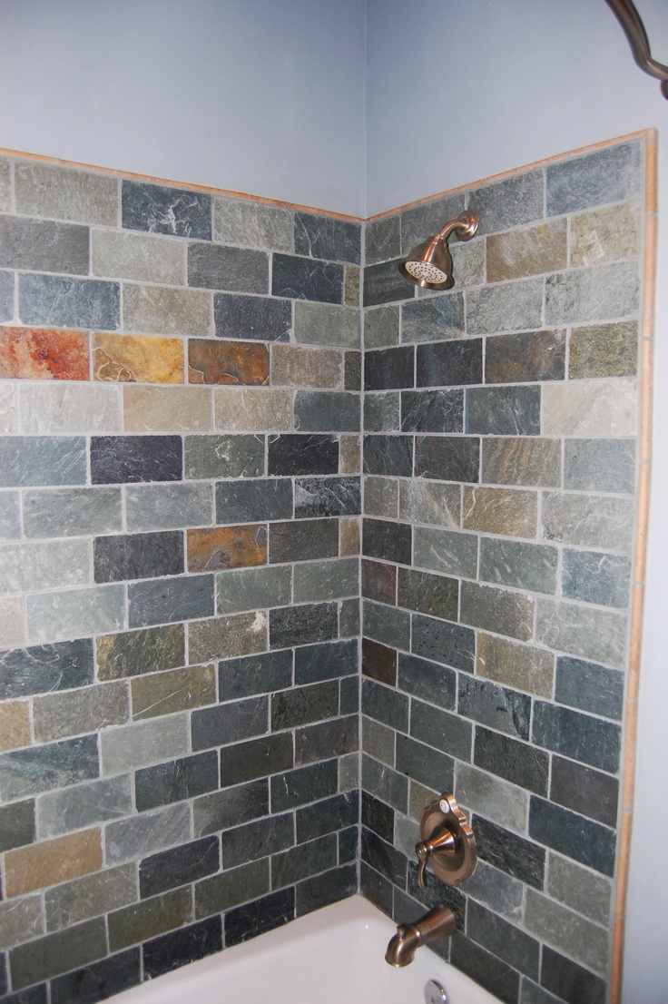 Slate tiles in bathroom - Slate Tile Bathroom