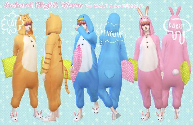 Animal night wear at Imadako via Sims 4 Updates