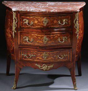 A GOOD FRENCH LOUIS XVI STYLE MARBLE BRONZE AND