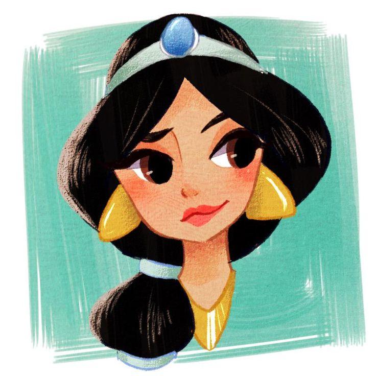 Princess Jasmine; this art style is super cute!