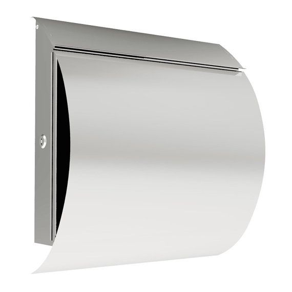 MPB027 New Semi Curve Lockable Mailboxes Stainless Steel Mail Boxes Modern Urban Style - QUALITY IS TOP