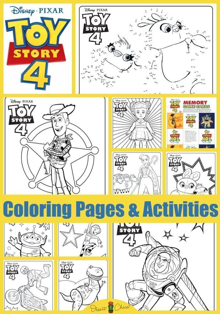 Toy Story 4 Free Printables Toy Story Coloring Pages Toy Story Printables Toy Story Party Food