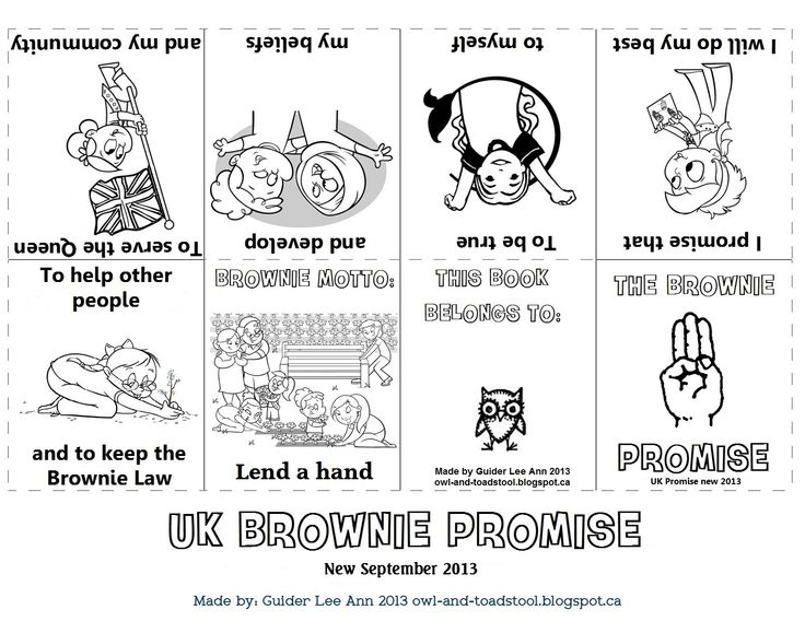 New Promise for Girlguiding UK Sept 2013. Mini promise book for Brownies made by Guider Lee Ann. http://owl-and-toadstool.blogspot.ca/2013/07/girlguiding-uk-new-promise.html