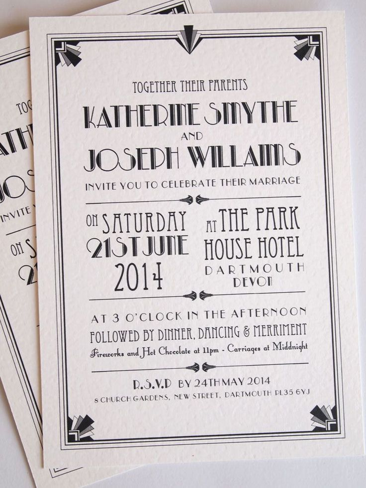 Art Deco Wedding Invitations For Archive Art Deco Stationery Paper Pleasures Stationery