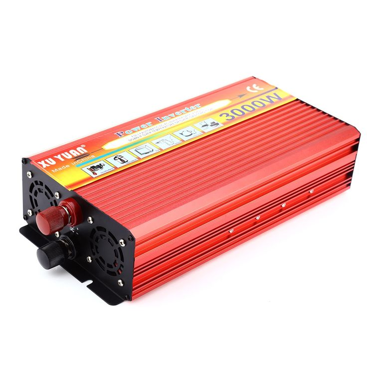 Free Shipping 3000W Solar Car Power Inverter DC 24V to AC 220V Modified Sine Wave Vehicle Mounted Charger