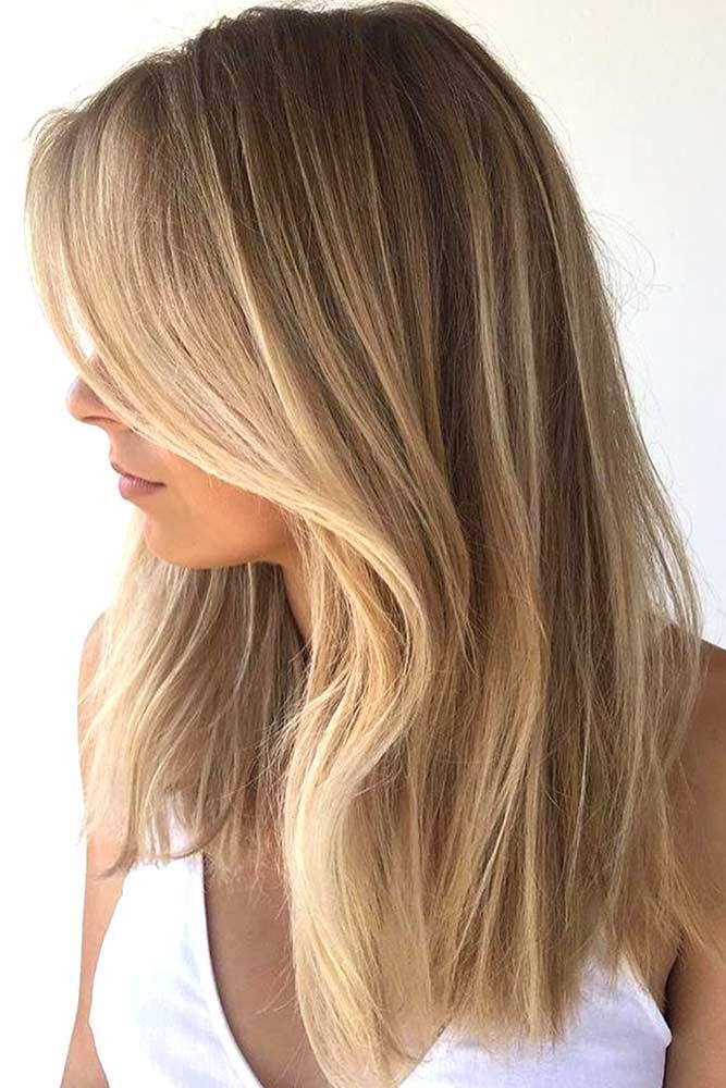 54 Fantastic Dark Blonde Hair Color Ideas Balayage Straight Hair