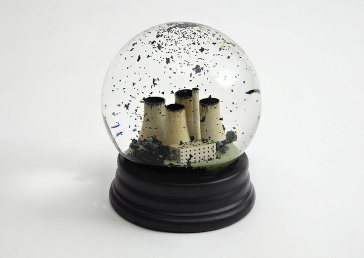 Noglobes Black Snow GlobesSnow Globs, Snow Globes, Art, Mixed Media, Plants, Christmas Gift, Design, Black, Climate Change