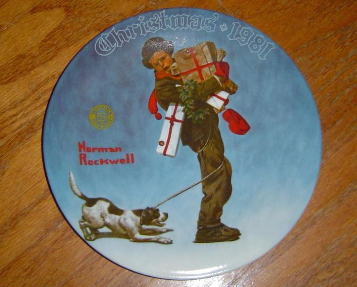Wrapped up in Christmas Norman Rockwell Plate & 152 best Rockwell decorative plates and figurines images on ...