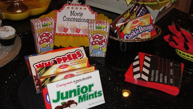 Concession ideas for movie theme party