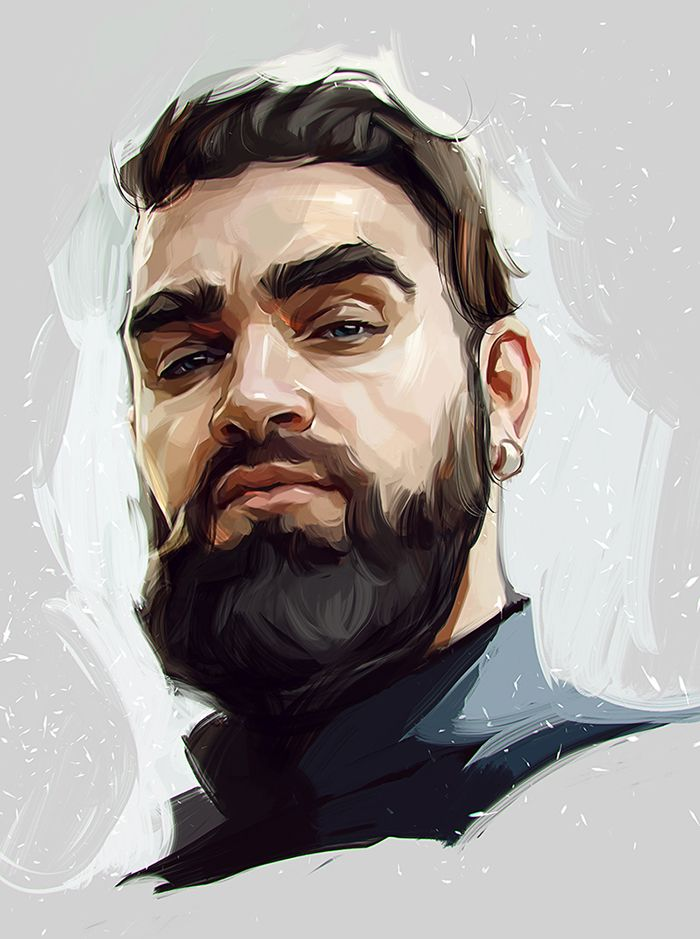 Superbes portraits en digital painting by Viktor Miller-Gausa