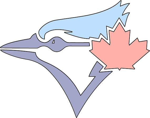 8 H x 10.18 W String Art Toronto Blue Jays Logo Pattern