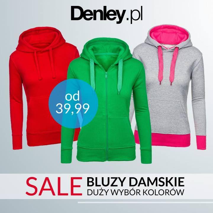 Tym razem Denley.pl przygotował coś dla dziewczyn. Ruszyła wyprzedaż damskich bluz w okazyjnych cenach już od 39,99! Znajdź coś dla siebie i skorzystaj z promocji---> http://www.denley.pl/pol_m_Odziez-damska_Bluzy-damskie-336.html