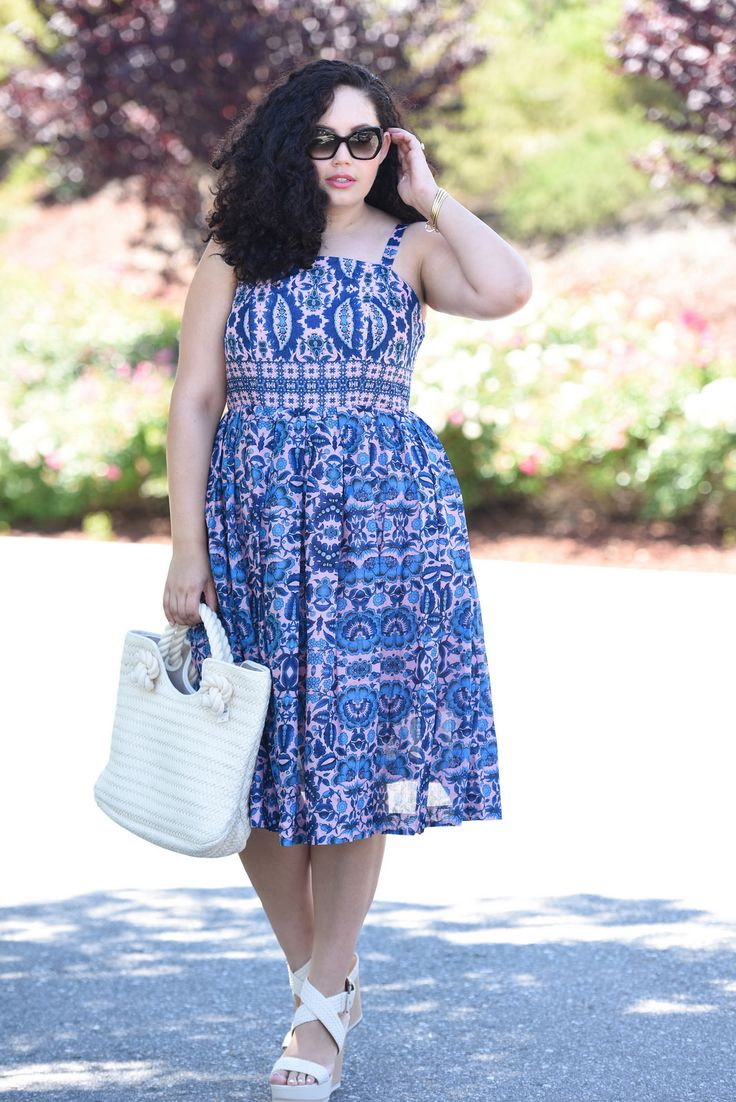 Printed Sun Dress, plus size fashion