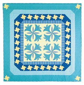 Free Cornflower Blue Quilt Pattern from ConnectingThreads.com