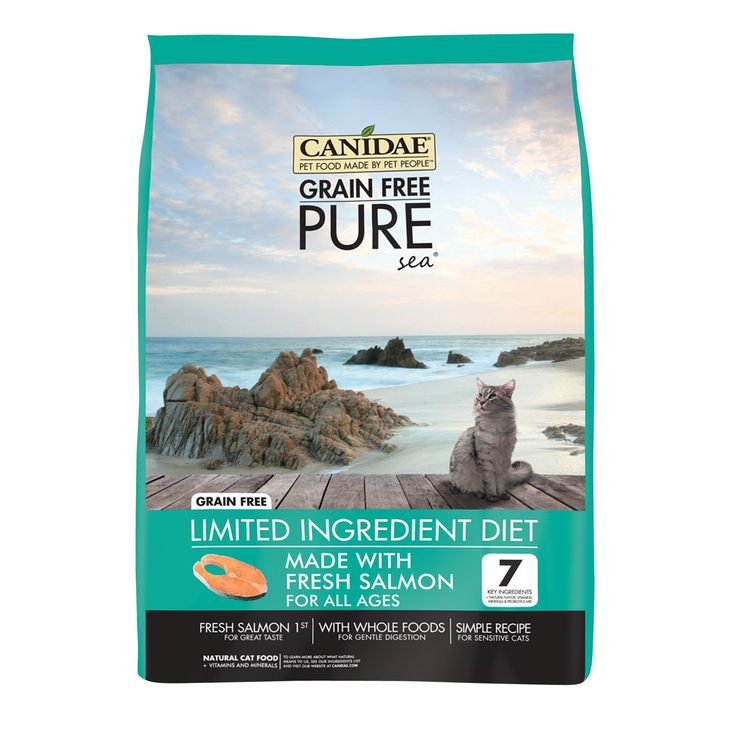 CANIDAE Grain Free Pure Elements Cat And Kitten Formula Food Fresh Salmon 10 lbs