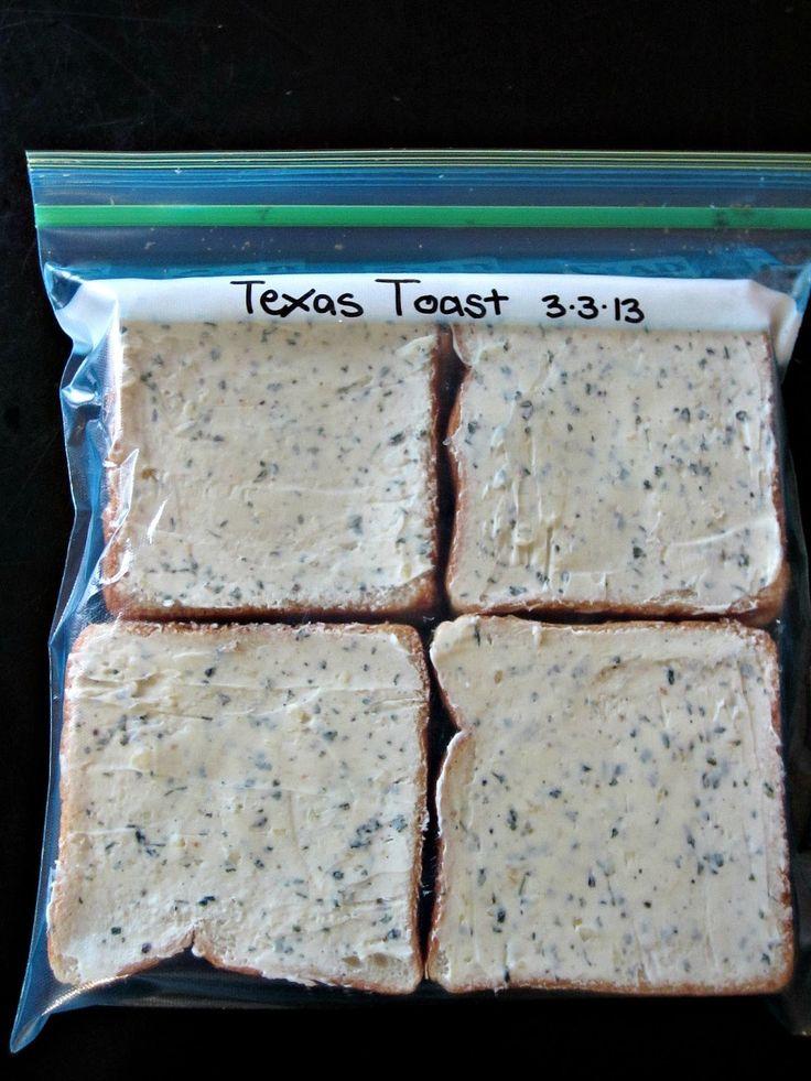How to make your own Freezer Garlic Texas Toast- Genius!