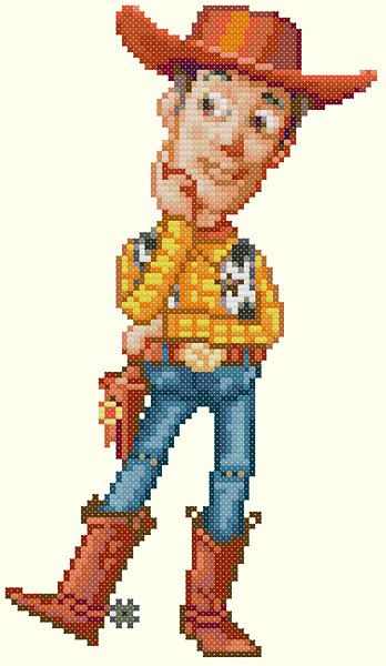 Woody Cross Stitch Pattern by KeenahsCrossStitch on Etsy, $4.99