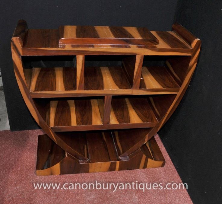 Photo Of Art Deco Bookcase Walnut Shelf Unit 1920s Furniture