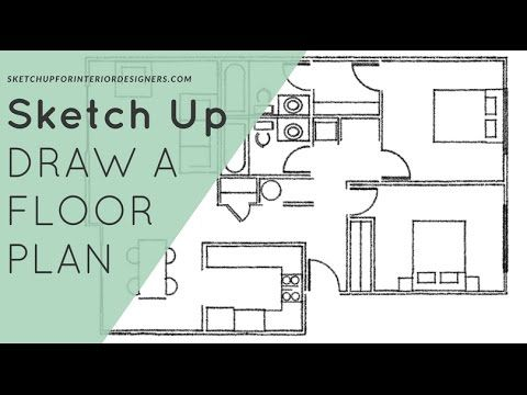 Draw A Floor Plan From A PDF Without Dimensions (1/2)   SketchUp