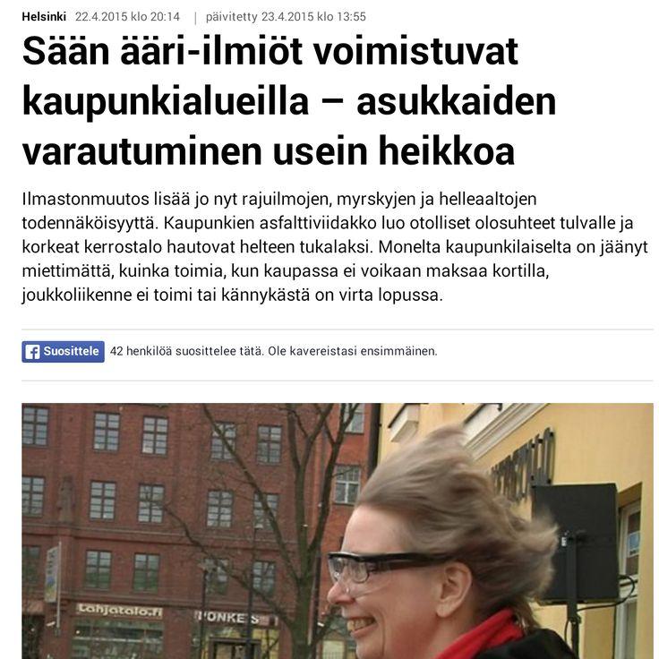 HSY:n Ilmastoinfo järjesti 22.4.2015 tapahtuman, jossa opetettiin varautumaan sään ääri-ilmiöihin. Communiké vastasi tapahtuman medianäkyvyydestä. Ylen Uutisten juttu 22.4.