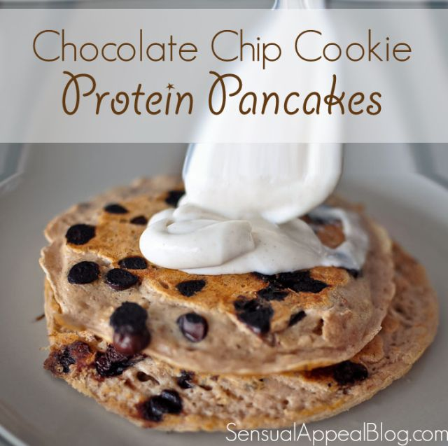 Chocolate Chip Cookie Protein Pancakes - Sensual Appeal
