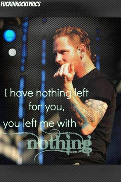 stone sour lyrics | Tumblr