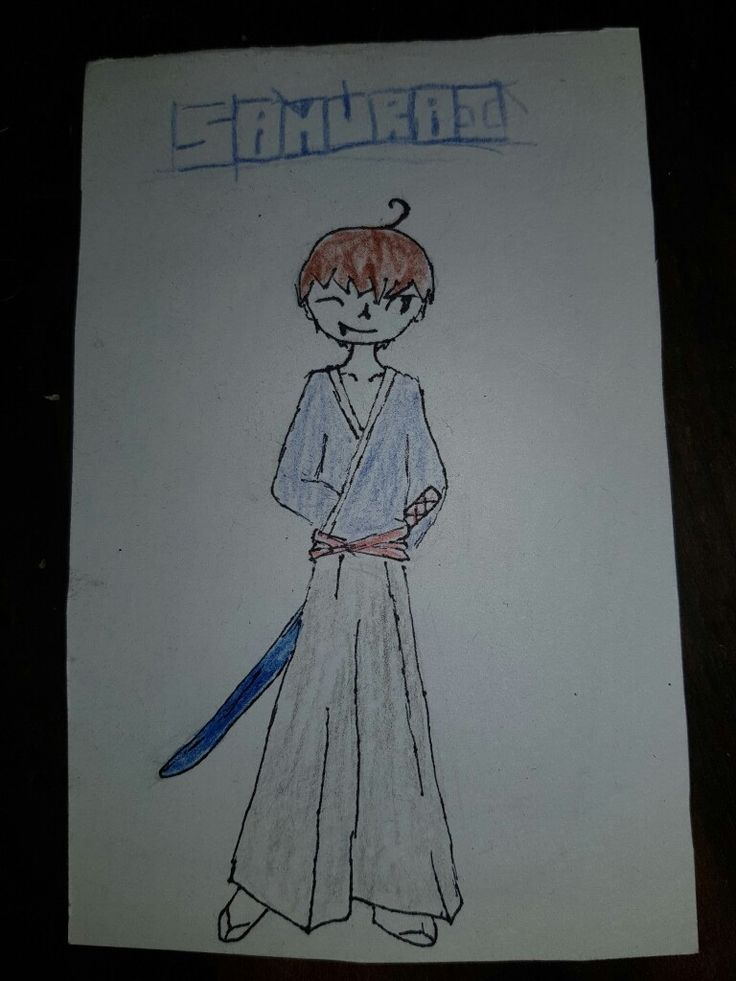 Trying to draw a chibi samurai, epic fail lol XD