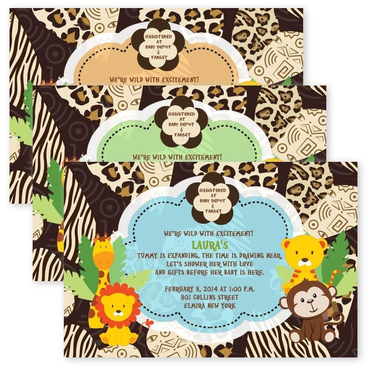 9 best safari baby shower invitation images on Pinterest   Shower ...