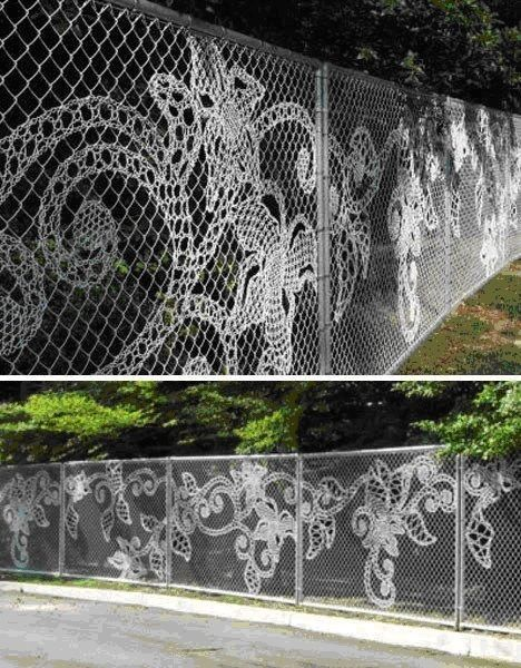 Lace Fence ou comment le grillage se mue en installation artistique…