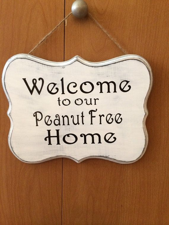 Food allergy welcome sign by Messagesbymelinda on Etsy