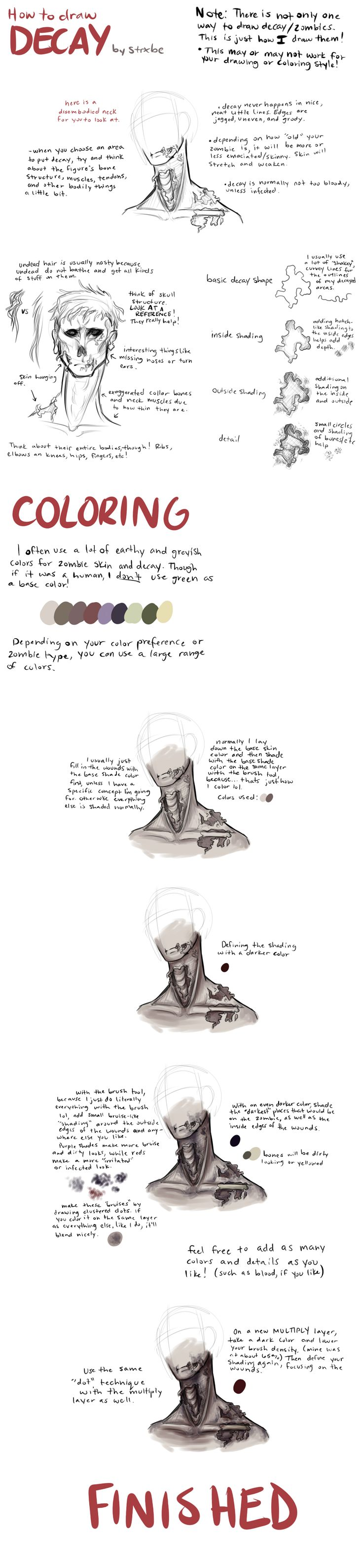 how to draw cuts and bruises