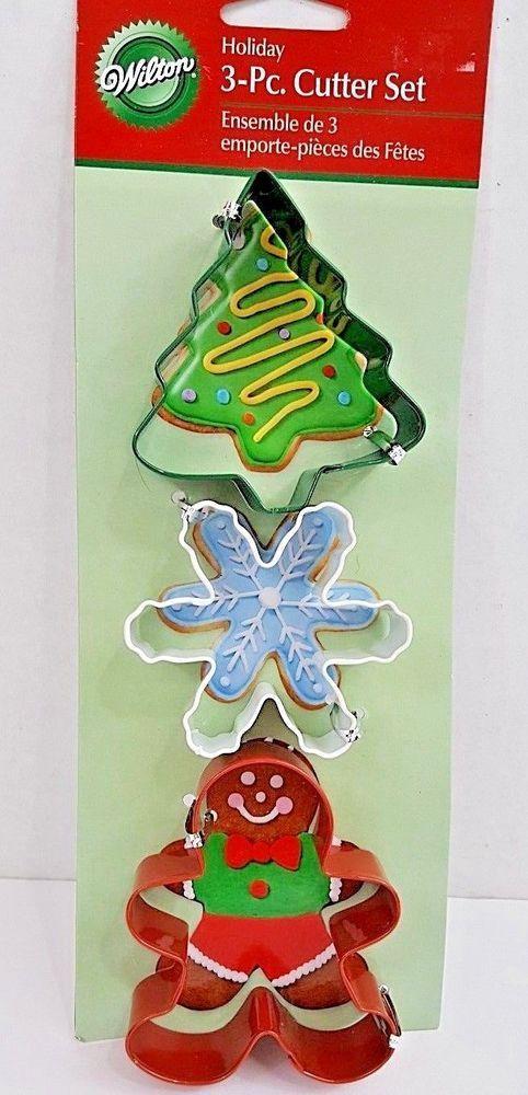 Wilton Christmas Cookie Cutters Metal - Tree, Snowflake