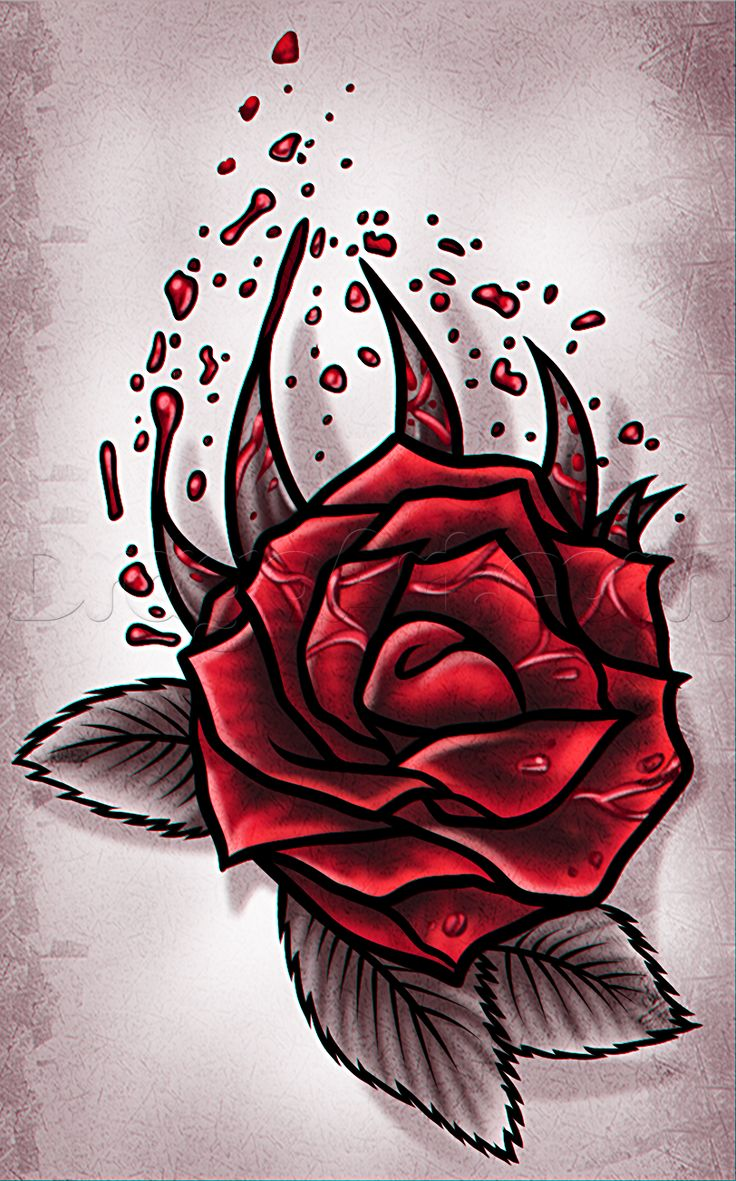 How To Draw A Rose Tattoo Design Step By Step Tattoos Pop Culture