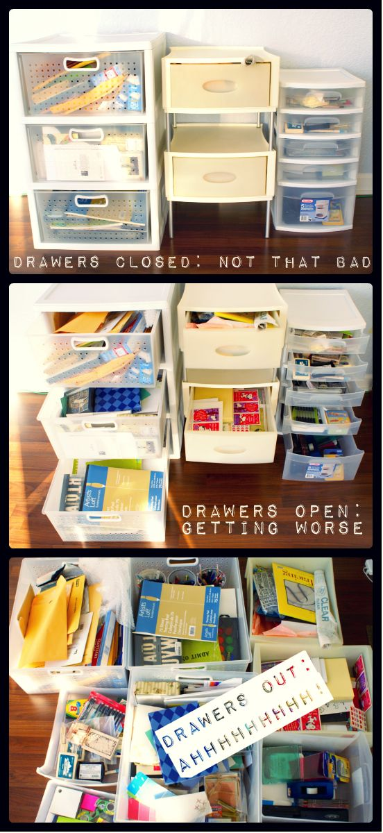 Craft Drawer Organization for the Budget Savvy via Lauren from The Thinking Closet