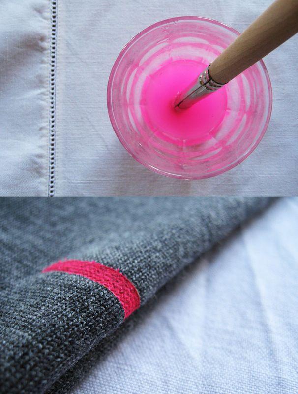 une idée simple  à mettre en oeuvre sur un vêtement