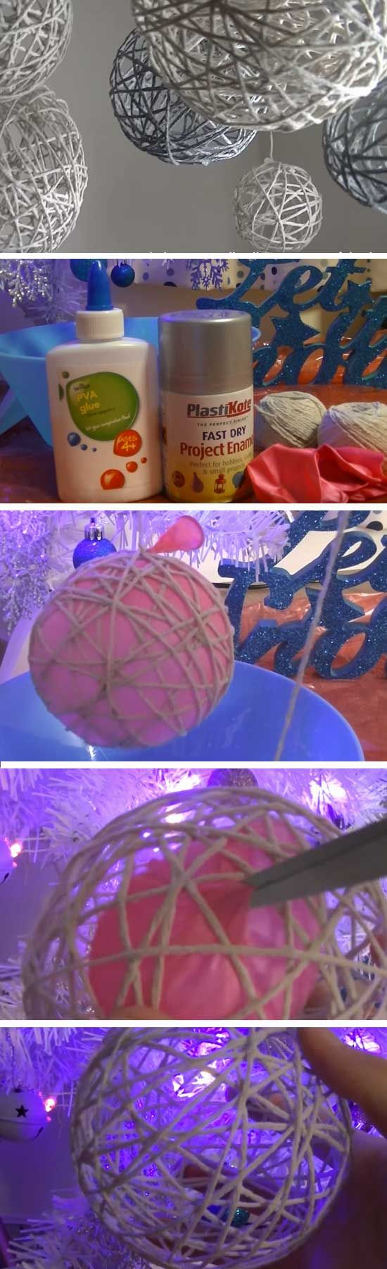 String Ornaments | 20 DIY Christmas Party Ideas for Adults